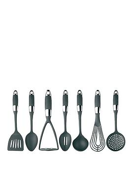 masterclass-soft-grip-stainless-steel-7-piece-utensil-set