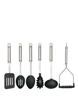 masterclass-professional-stainless-steel-kitchen-utensil-set-6-piece