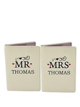 personalised-mr-mrs-passport-covers
