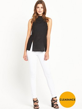 river-island-high-neck-split-hem-tank