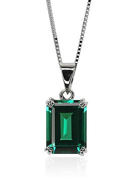carat-london-9-carat-white-gold-15-carat-equivalent-double-prong-emerald-green-pendant