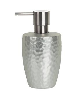spirella-darwin-hammered-soap-dispenser-silver