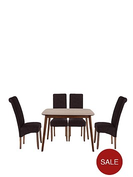 charles-120-cm-dining-table-with-4-brook-plain-fabric-chairs