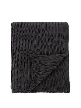catherine-lansfield-soft-touch-knitted-throw-charcoal