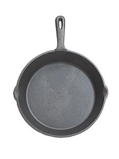 kitchen-craft-24-cm-deluxe-cast-iron-round-plain-grill-pan