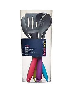 colourworks-5-piece-soft-touch-kitchen-tool-kit