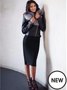 lipsy-michelle-keegan-pu-fur-collar-jacket