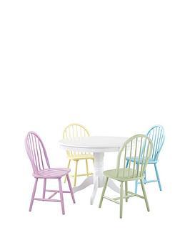 910b2365c9b2 Daisy 107 cm Round Dining Table + 4 Chairs - Multi ...