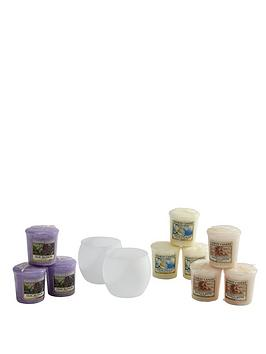 yankee-candle-2-x-frosted-votive-holders-and-9-votives
