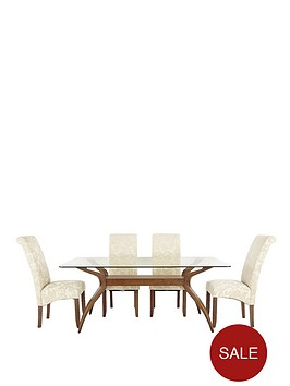 knox-dining-table-plus-4-brook-floral-fabric-chairs