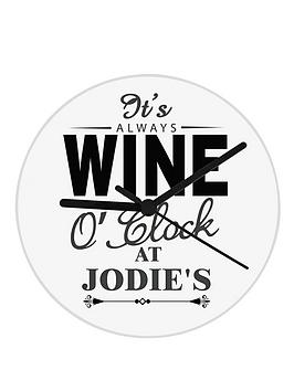 personalised-wine-o-clock-glass-clock