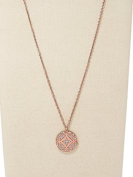 fossil-rose-gold-tone-signature-pendant