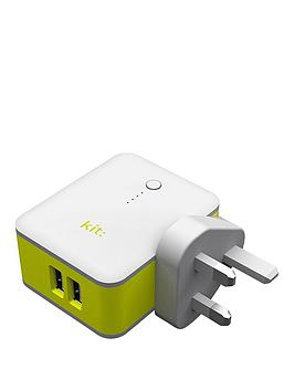 kit-2-in-1-travel-charger-with-power-bank-white