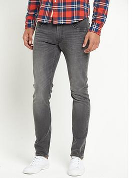 lee-luke-slim-taperednbspmens-jeans-black-lead