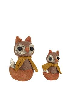 sitting-foxes-christmas-decorations-set-of-2