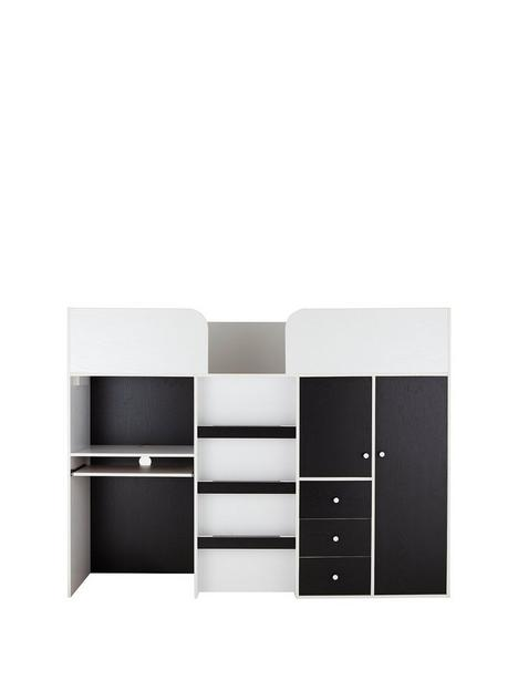 miami-fresh-midsleeper-bed-with-desk-drawers-cupboards-and-mattress-options-buy-and-save