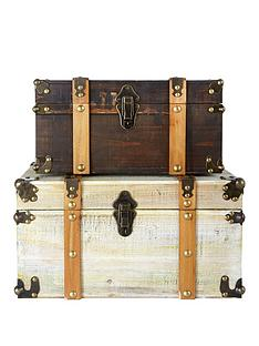set-of-2-antique-effect-storage-trunks