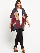 Colour Block Blanket Cape