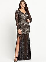 Curve Kelsie Lace Maxi Dress