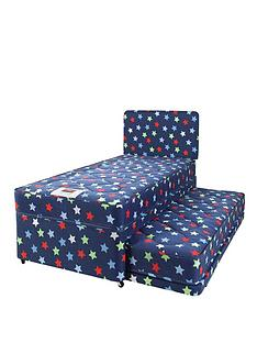 airsprung-kids-stars-and-butterflies-single-divan-with-trundle-guest-bed-and-free-headboard