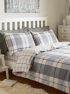 100-brushed-cotton-check-duvet-cover-set