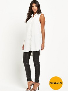 vila-longlinenbspbutton-down-blouse