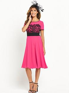 definitions-short-sleeve-lace-detail-dress-with-shawl