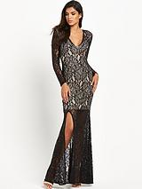 Kelsie Lace V-Neck Maxi Dress