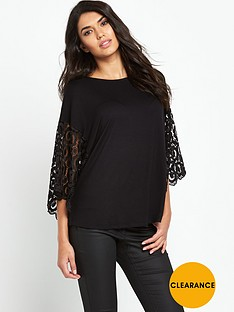 south-lace-sleeve-jersey-t-shirtnbsp