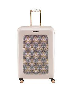 ted-baker-4-wheel-floral-geo-nude-large-case