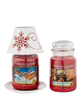 yankee-candle-snowflake-shade-and-tray-with-2-large-jar-candles