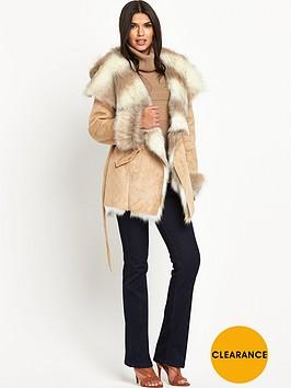 lipsy-stone-shearling-coat