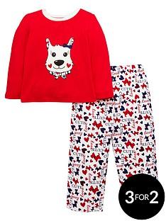 ladybird-toddler-girls-scottie-dog-pyjamas-with-sleepover-bag-1-7-years
