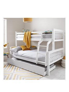 Novara Detachable Trio Bunk Bed With Optional Mattress