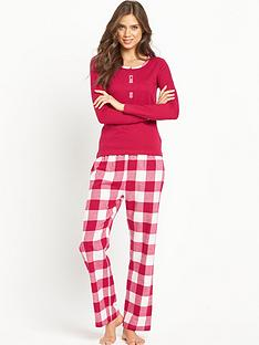 sorbet-red-check-with-jersey-top-pjnbsp