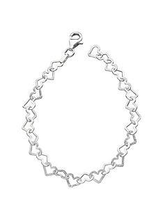 the-love-silver-collection-sterling-silver-diamondnbspcut-heart-braceletnbsp