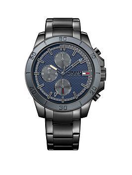 tommy-hilfiger-chronograph-blue-dial-gun-metal-stainless-steel-bracelet-mens-watch