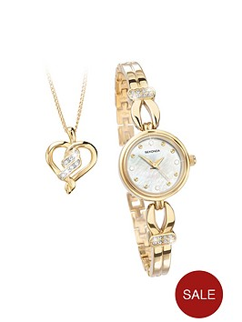 sekonda-gold-plated-crystal-set-watch-and-heart-pendant-gift-set