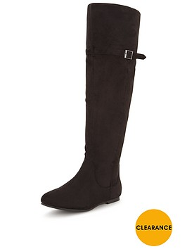 shoe-box-sonata-knee-high-imi-suede-flat-boot