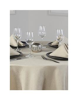 linen-look-round-table-linen-set-4-place-settings-69-inch