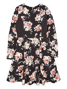 freespirit-girls-long-sleeve-floral-prom-dress