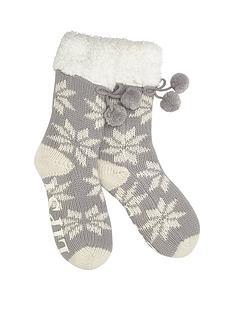 lipsy-snowflake-fleece-socks