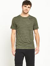 Nike Dri Fit Touch Short Sleeved Heathered T Shirt