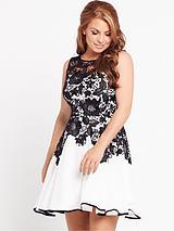 Lace Panel Prom Dress