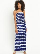 FRINGE TIE DYE MAXI DRESS