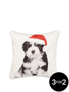 hamilton-mcbride-christmas-puppy-cushion