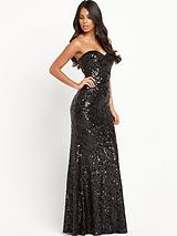 Isla Bandeau Sequin Maxi Dress