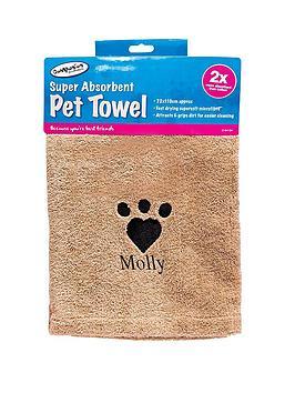 personalised-super-absorbant-pet-towel