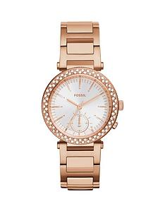 fossil-fossil-urban-traveller-cyrstal-set-multi-dial-rose-gold-plated-ladies-watch