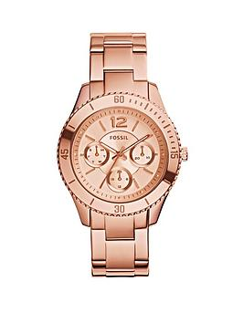 fossil-stella-rose-gold-plated-multifunction-ladies-watch